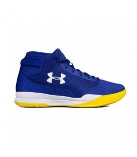 Zapatillas de baloncesto para niños Under Armour Grade School Jet 2017 1296009-500 de color azul marino al mejor precio en chemasport.es