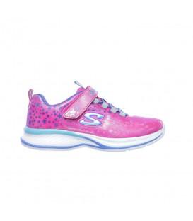Zapatillas de skechers para niños Jumpin Jams - Cosmic Cutie de color rosa con cierre de velcro al mejor precio en chemasport.es