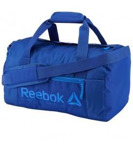 Bolso Reebok Foundation BP7092 en color azul, bolsa de gimnasio con diferentes compartimentos, más modelos y colores en chemasport.es al mejor precio.