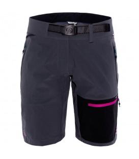 Pantalón corto de montaña para mujer Ternua Mika Bermuda de color gris. Disponible en más colores. Descubre toda nuestra colección de trekking en la web.