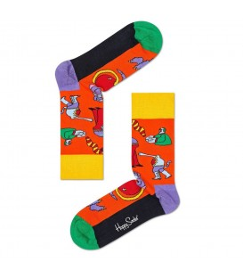 Calcetines Happy Socks Monsters BEA01-2000 en color naranja, los calcetines para fans de The Beatles están disponibles en Chema Sneakers y en chemasport.es