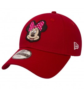 Gorra New Era 9Forty Disney Patch Minnie Mouse 80581091 en color rojo, proteje a los niños del sol con esta divertida gorra de Minnie Mouse.