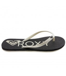 CHANCLAS ROXY TO THE SEA HEART BLANCO NEGRO