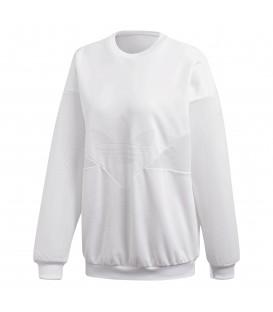 Compra ahora esta sudadera adidas CLRDO SWEATSHIRT para mujer de color blanco. Inspiración ochentera para un look urbano perfecto. Ref: CW4960.