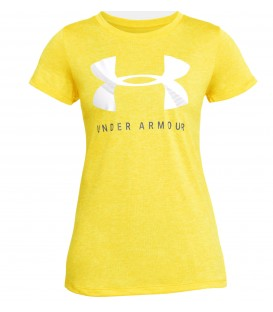 CAMISETA UA TECH GRAPHIC TWIST AMARILLO FITNESS 1309897-159