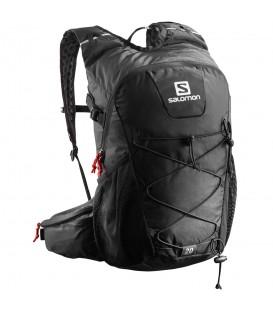 Mochila Salomon Evasion 20 L40164100 negra, mochila con sistema para transportar bastones y bolsillo interno para bolsa de hidratación son sistema de agarre.