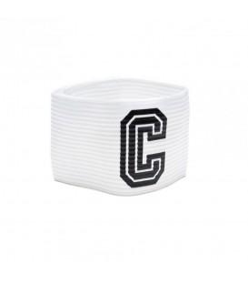 Brazalete de capitán Joma 943.001 en color blanco, brazalete con cierre de velcro, más colores disponibles en chemasport.es