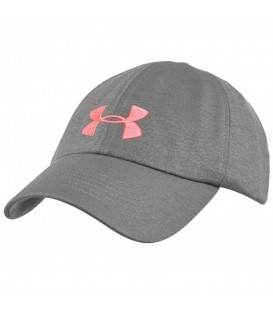 Gorra Under Armour Renegade 1306289-040 para mujer en color gris y rosa, gorra de tejido transpirable que se adpata perfectamente para mayor comodidad.