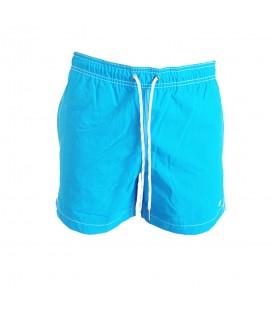 Bañador Champion 211845-BS015 en color azul celeste, bañador con cintura ajustable con cordón y calzoncillo interior de malla, más colores en chemasport.es