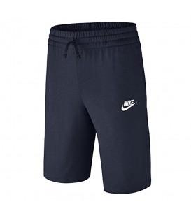 Pantalón corto Nike Junior JSY 805450-451 de color azul marino, pantalon por la rodilla Nike, entra en chemasport.es y descubre más modelos y colores.