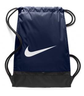 Saquito Nike Brasilia BA5338-410 en color azul marino de un tejido resistente para guardas tus cosas de forma segura, además dispone de bolsillo con cremallera.