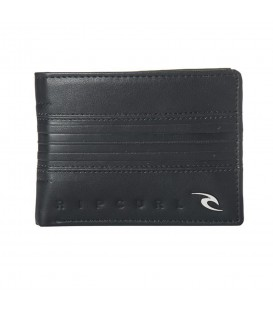 Cartera Rip Curl Rapture Boss BWUIE1-0090 en color negro, cartera con monedero y múltiples ranuras.
