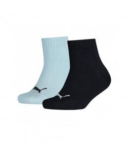 Calcetines tobilleros Puma Quarter Kids 271315-548 para niños en color azul, entra en chemasport.es y descubre más calcetines de algodón al mejor precio.