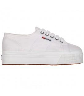 Zapatillas para mujer Superga 2790 blancas con plataforma al mejor precio en tu tienda de sneakers en Pontevedra Chema Sneakers.
