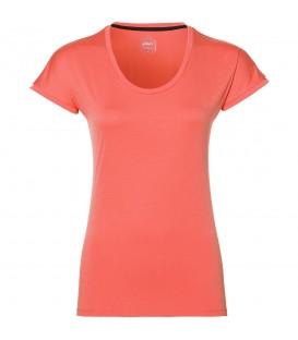 Camiseta para mujer Asics de manga japonesa de color coral Ref. 154541-6051. Cómprala ahora y recíbela en menos de 24 horas. ¡Al mejor precio!