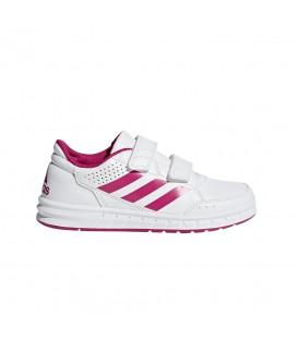 Zapatillas para niños adidas Altasport CF Kids BA9450 con cierre de velcro de color blanco y rosa al mejor precio en tu tienda de deportes online chemasport.es
