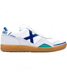 Zapatillas de fútbol sala para hombre Munich Gresca 01 de color blanco al mejor precio en tu tienda de deportes online chemasport.es
