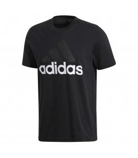 Camiseta adidas Essential Linear Tee de color negro. Ref: S98731. Camiseta de manga corta para hombre con manga raglán para más comodidad. Logotip estampado