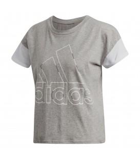 Camiseta adidas Sid Boss de color gris para mujer de color gris. Ref: DJ1619. Camiseta de gimnasio. Estilo croptop deportivo.
