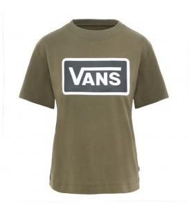 Camiseta Vans Boom Boom VA3PFFKCZ para mujer en verde, visita nuestra tienda Chema Sneakers o entra en chemasport.es para encontrar todas las novedades de Vans.