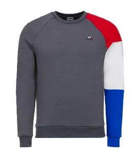 Sudadera Le Coq Sportif Tricolore 1722333 para hombre en color gris, sudaderas de las mejores marcas deportivas disponibles en chemasport.es