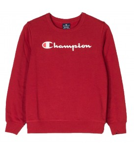 Sudadera Champion Crewneck 304747-RS032 para niños en color rojo, más modelos de sudaderas baratas en chemasport.es