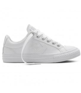 Zapatillas para mujer Converse Star Player WV OX 651827C de color blanco y cordones al mejor precio en chemasport.es