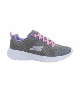 Zapatillas Skechers Skechers Gorun 600 - Fun Run para niños en color gris, zapatillas cómodas para el recreo o actividades extraescolares.