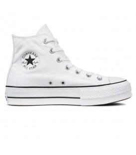 Zapatillas Converse con plataforma Chuck Taylor All Star Lift 560846C de color blanco al mejor precio en chemasport.es