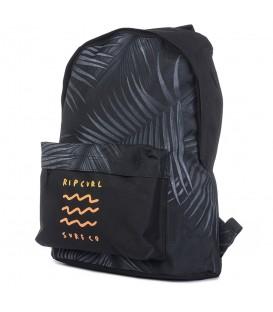 Mochila Rip Curl Dome Glow Wave BBPUT2_0090 en color gris y negro, mochilas de las mejores marcas en chemasport.es