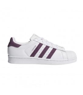 Zapatillas para mujer adidas superstar W B41510 de color blanco en piel al mejor precio en chemasport.es