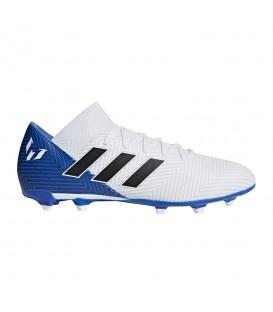 Botas de fútbol de Messi adidas Nemeziz Messi 18.3 FG DB2111 de color blanco y azul para hombre al mejor precio y gastos de envío gratis en chemasport.es