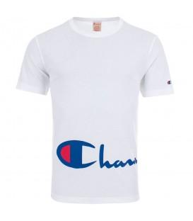 Camiseta Champion Reverse Weave Big Script Logo 212380-WW001 para hombre en color blanco, Champion Rochester y Champion Premium en chemasport.es