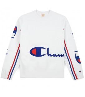 Sudadera Champion Reverse Weave Wrap Script 212374-WW001 para hombre en color blanco, Champion Rochester y Champion Premium en Chema Sneakers o chemasport.es