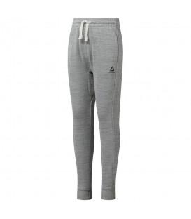 Pantalón Reebok Marble Melange DJ3059 para niña en color gris, pantalón cálido para niñas a buen precio, disponible en chemasport.es