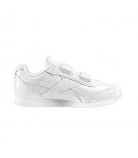 Zapatillas para niños Reebok Royal Classic Jogger VD3666 de color blanco de aspecto retro mas calzado infantil en chemasport.es
