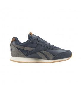 Zapatillas para niños Reebok Royal Classic Jogger CN4813 de color azul marino de aspecto retro mas calzado infantil en chemasport.es