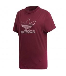 Camiseta adidas CLRDO DH3007 para mujer en color granate, descubre más modelos adidas originals en chemasport.es