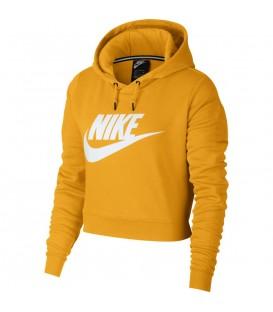 Sudadera con cremallera Nike Rally AQ9965-752 para mujer en color mostaza, más sudaderas y ropa deportiva para mujer en chemasport.es