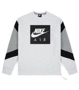 Sudadera de corte noventero de la marca Nike Air Crew 928635-051 con mangas al contraste y logotipo estampado en el pecho. Cómprala ahora y recíbela en 48 horas