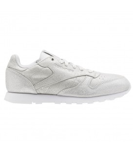 ZAPATILLAS REEBOK CLASSIC LEATHER CN5581 PLATEADO