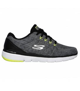 Zapatillas para hombre Skechers Flex advantage 3.0 - Sally de color gris perfectos para caminar o carreras de intensidad ligera.