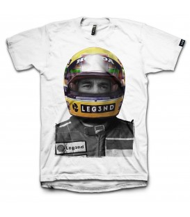 CAMISETA LEG3ND AYRTON BLANCO
