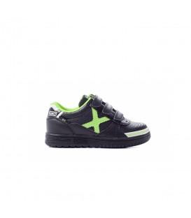 Zapatillas de fútbol sala para niños Munich G-3 Kids Profit 1515870 de color negro y verde. Otros modelos de fútbol sala para niños en chemasport.es