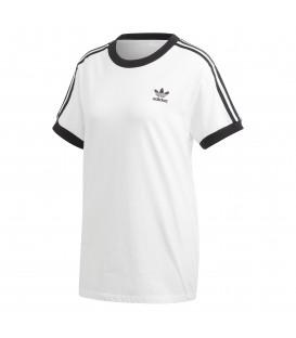 Camiseta para mujer adidas 3 stripes DH3188 de color blanco al mejor precio en tu tienda de deportes en Pontevedra chemasport.es