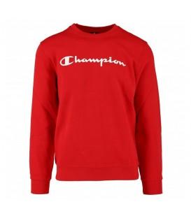Sudadera para hombre Champion Crewneck 212078-RS032 de color rojo. Otros modelos de Champion al mejor precio en chemasport.es