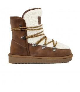 Botas de media caña con forro interior D. Franklin nordic 18 Fur IKK18125-46 de color camel para mujer al mejor precio en chema sneakers