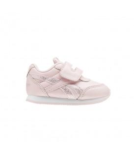 Zapatillas para niños Reebok Royal Classic Jogger CN4812 de color rosa con cierre de velcro al mejor precio en chemasport.es