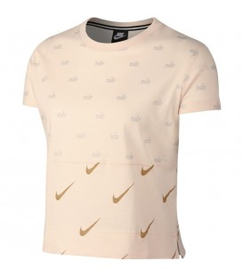 Camiseta para mujer Nike Sportswear AJ0100-838 de color blanco. Otros modelos de camisetas para mujer en chemasport.es