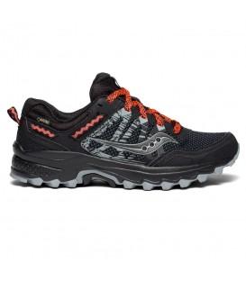 Zapatillas de trail para mujer Saucony Excursion TR 12 con goretex de color negro al mejor precio y gastos de envío gratis en chemasport.es